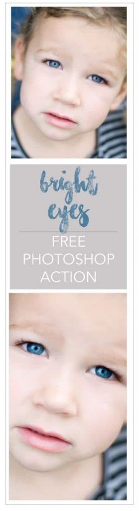 Free Photoshop Action from Inspire Me Baby