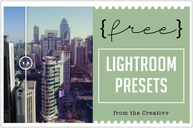 Free Lightroom Presets from the Creativv