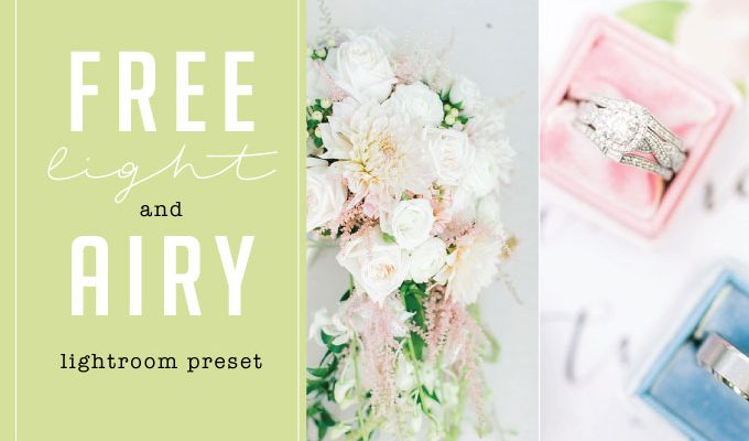 Free Light and Airy Lightroom Preset from Jordan Brittley